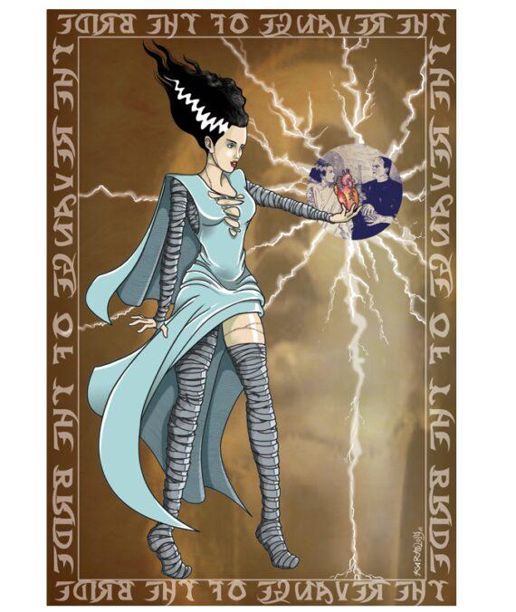 Poster Novia de Frankenstein